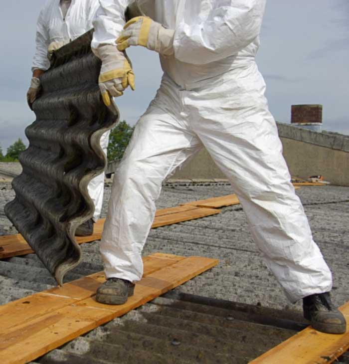 Entsorgung von Asbest-Dachplatten